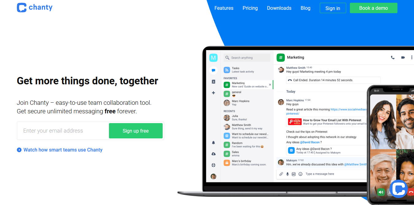 Chanty – One of the Best Slack Alternatives for New Business