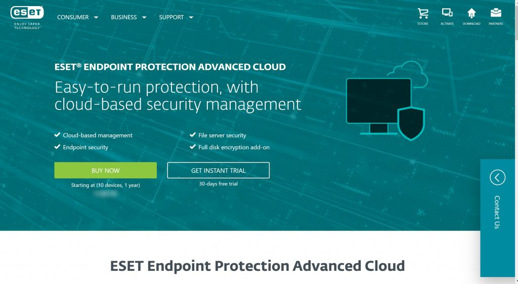 ESEt Cloud Antivirus software