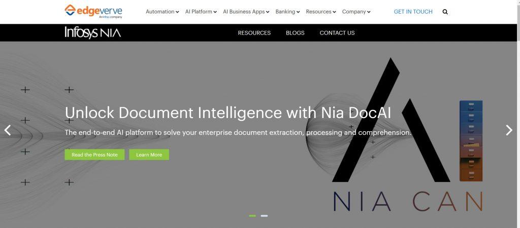Infosys NIA AI Software