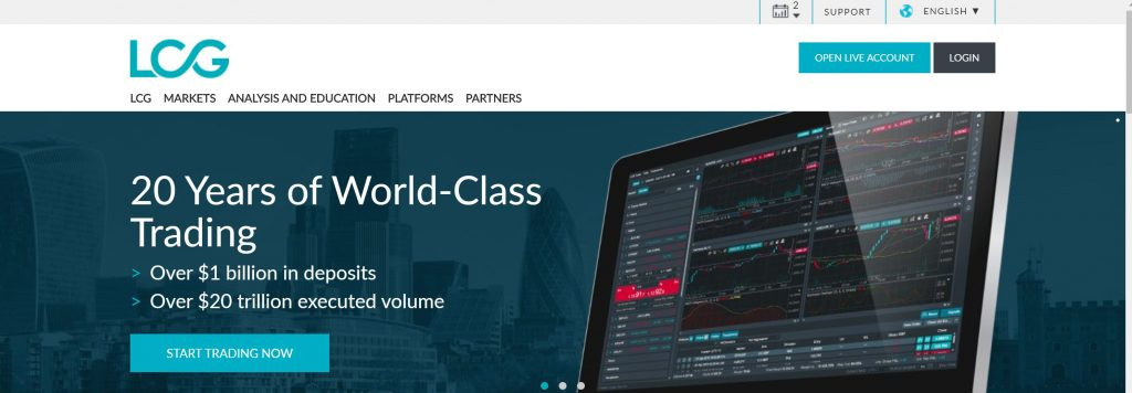 LCG Forex trading and stock platform