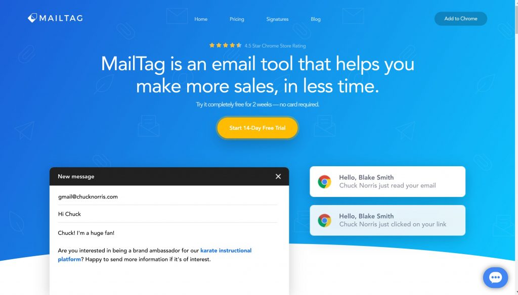 Mailtag email tracker app