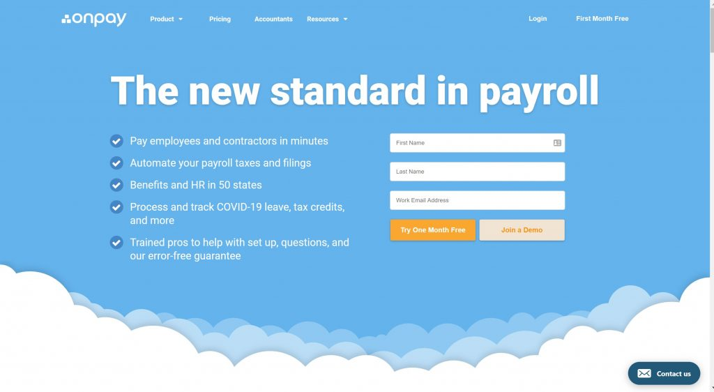 OnPay Payroll software for small biusiness