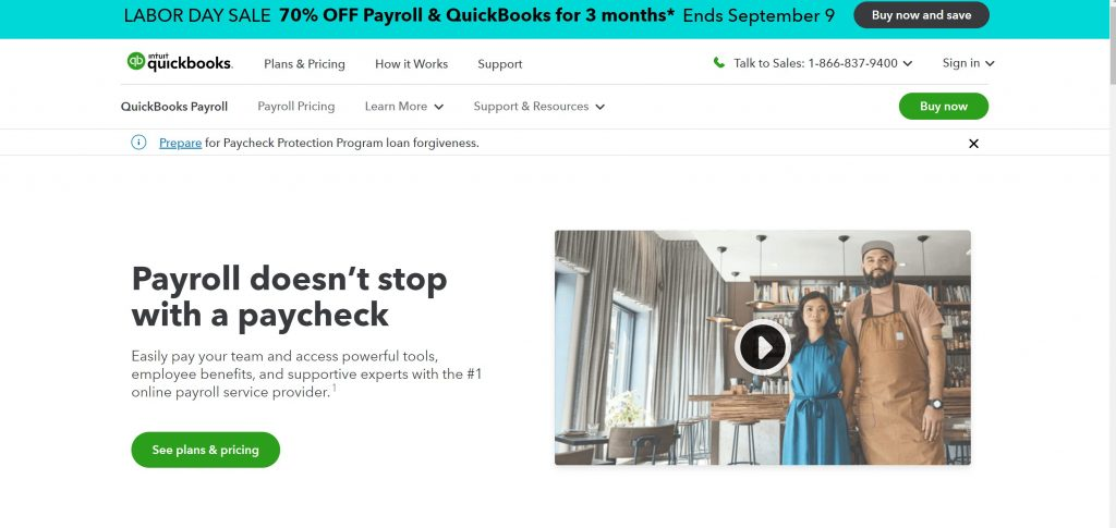 QuickBooks payroll software for small business