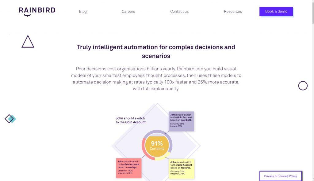 Rainbird Artificial Intelligence software program