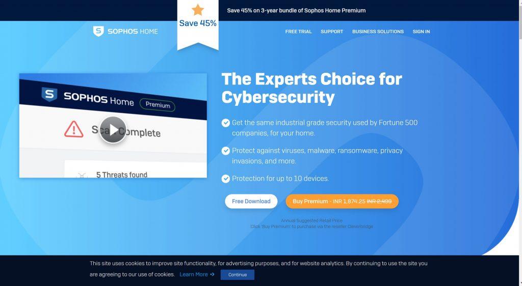 Sophos security antivirus for business