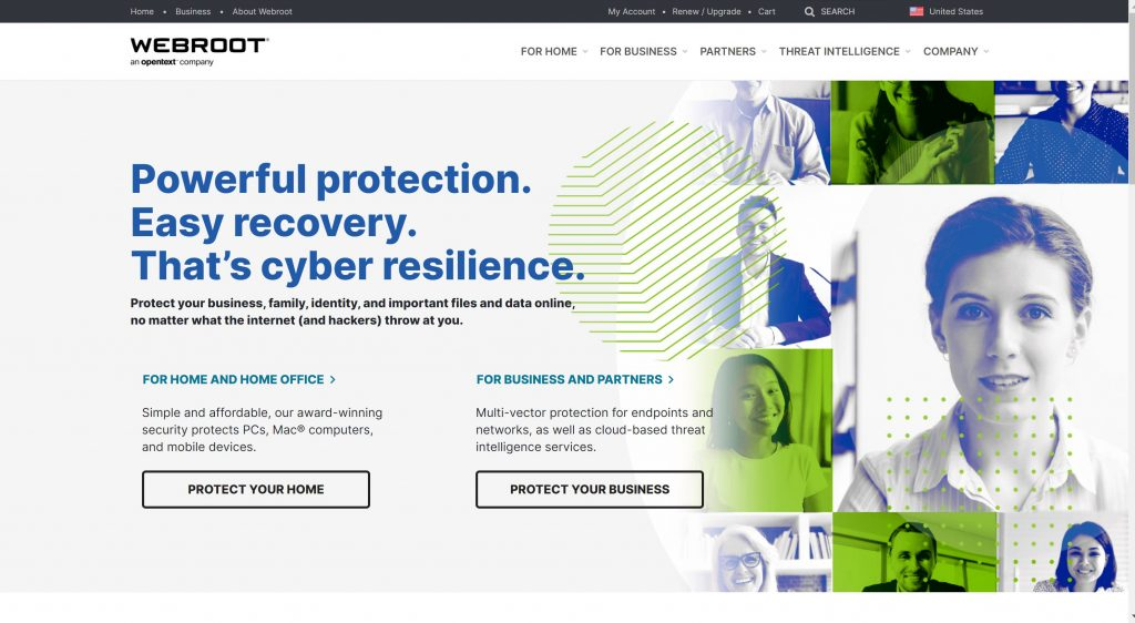 Webroot business security software