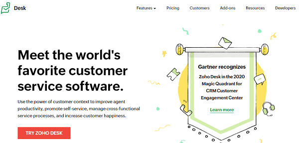 Zoho Desk-customer service software similar to Zendesk