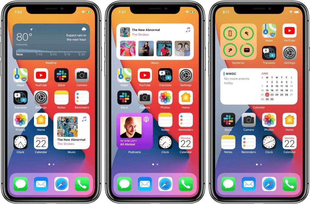 iOS 14 features Home Screen Widgets