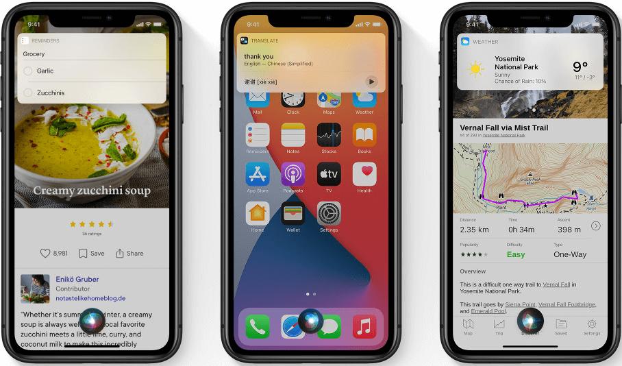 iOS 14 features Siri