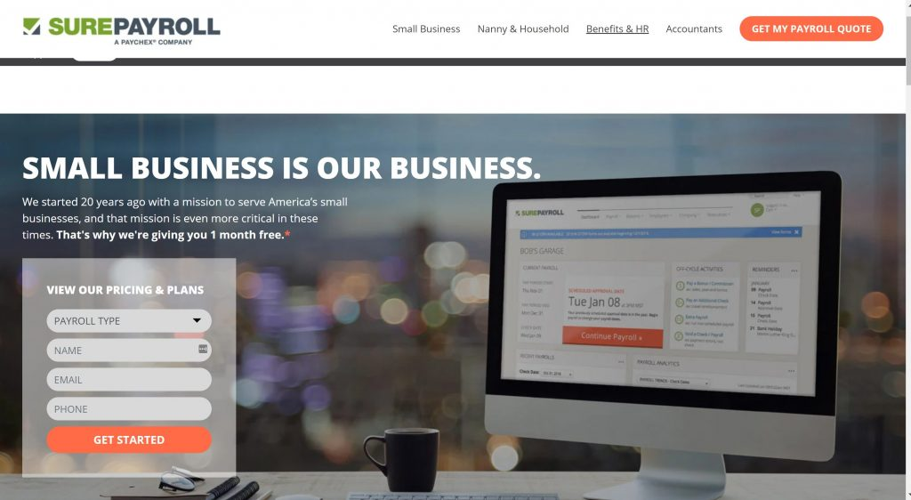sure payroll small business software for payroll
