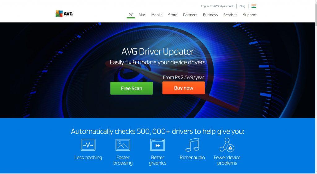 AVg Driver update software for refreshing