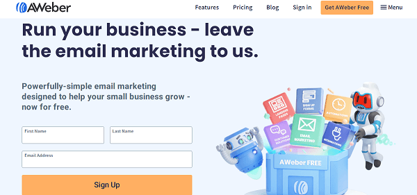 AWeber-automated email service