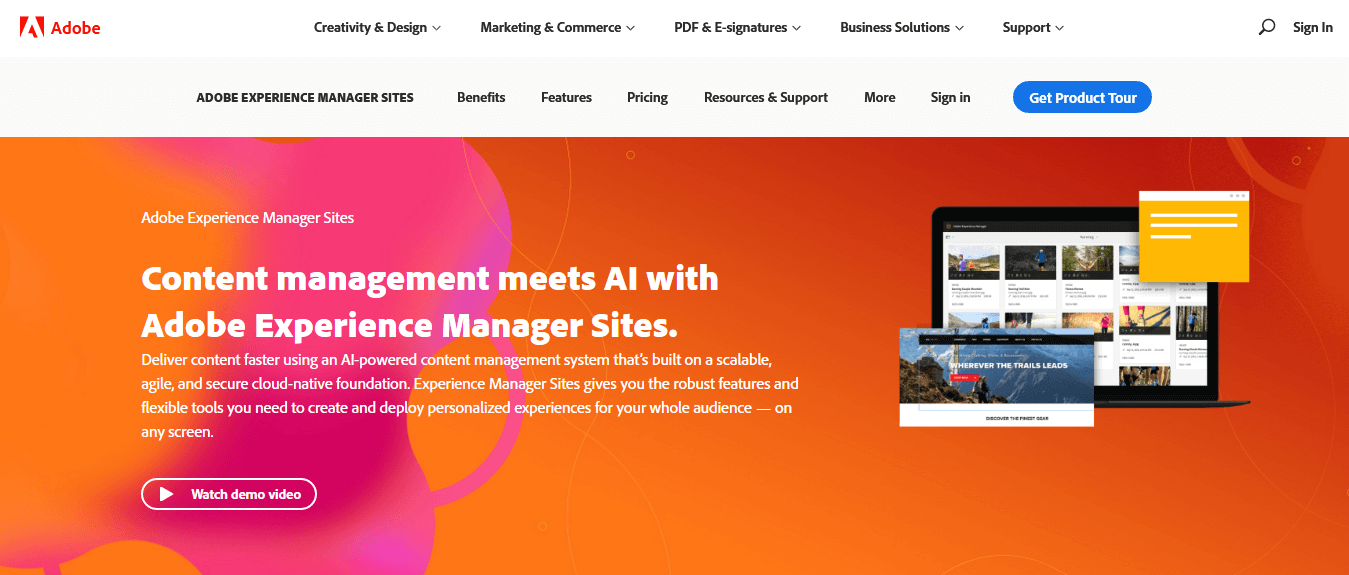 Adobe Experience Manager Sites — Best AI-Powered CMS