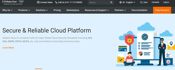 Alibaba Cloud- top cloud computing services