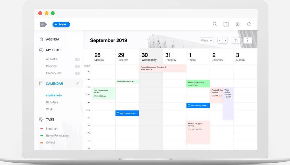 Anydo-Calendar Apps