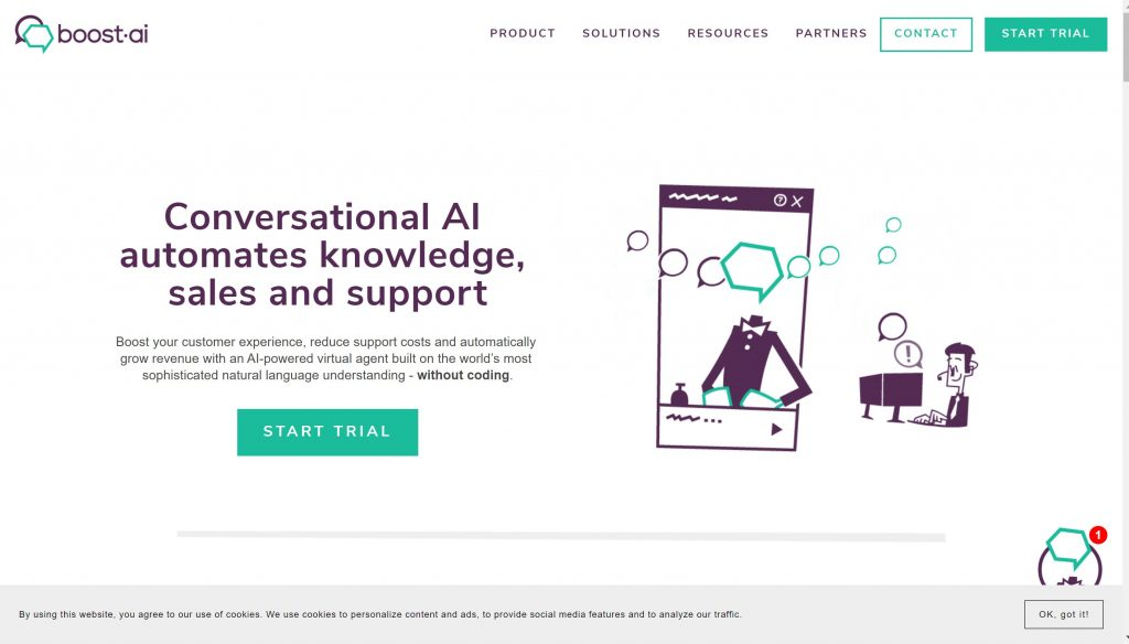 Boost AI- conversation AI chatbot tool
