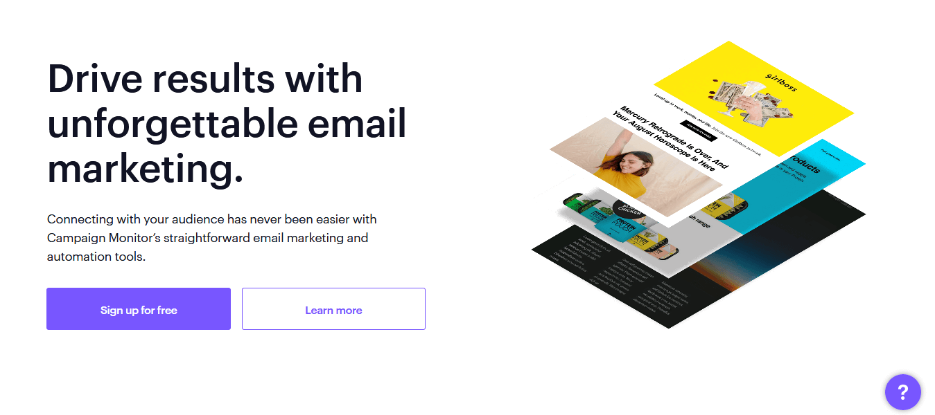 Campaign Monitor- Creative and Easy-to-use Email Marketing Software