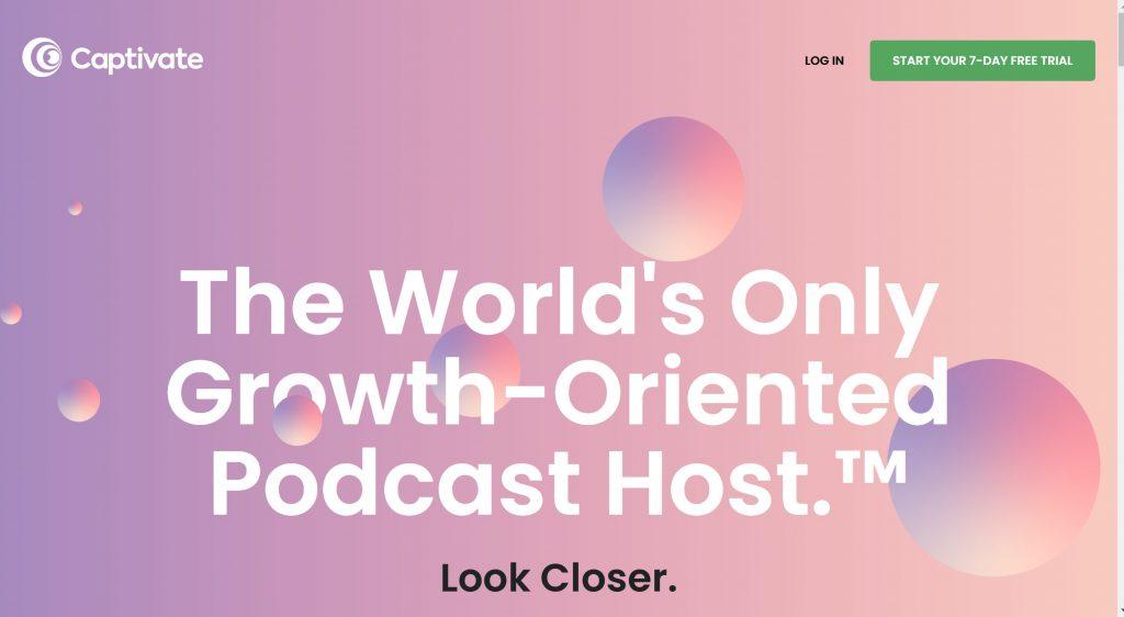 Captivate- free podcast hosting platform