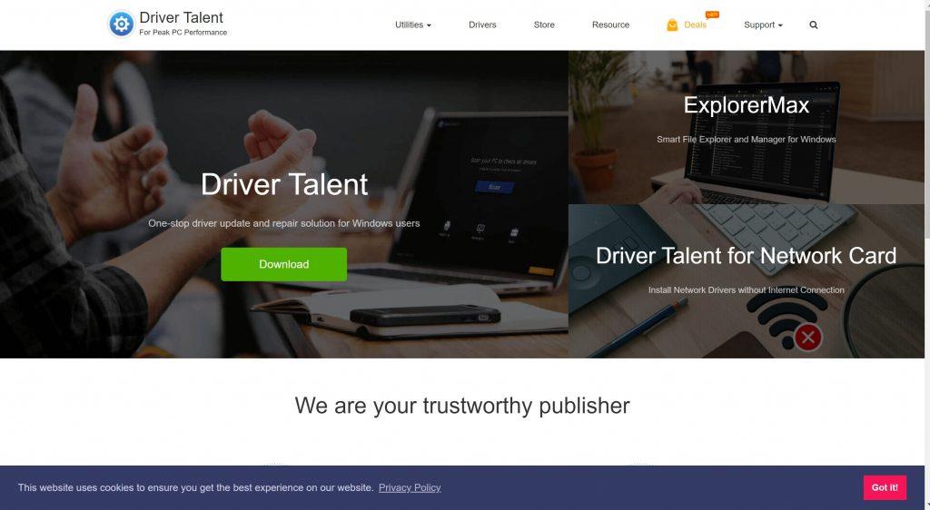 Driver updater software tools- Driver Talent