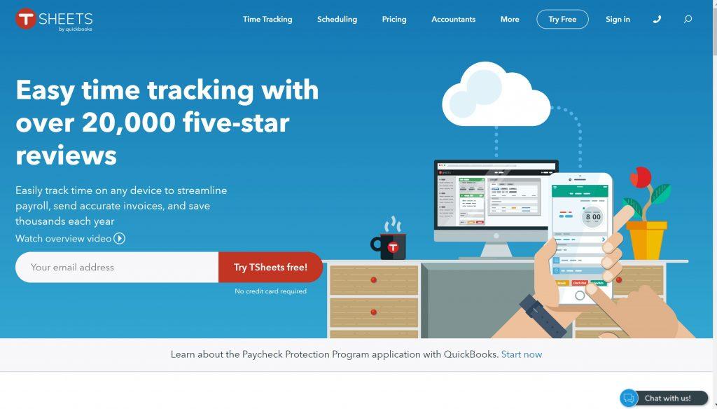 Free time tracker- TSheets