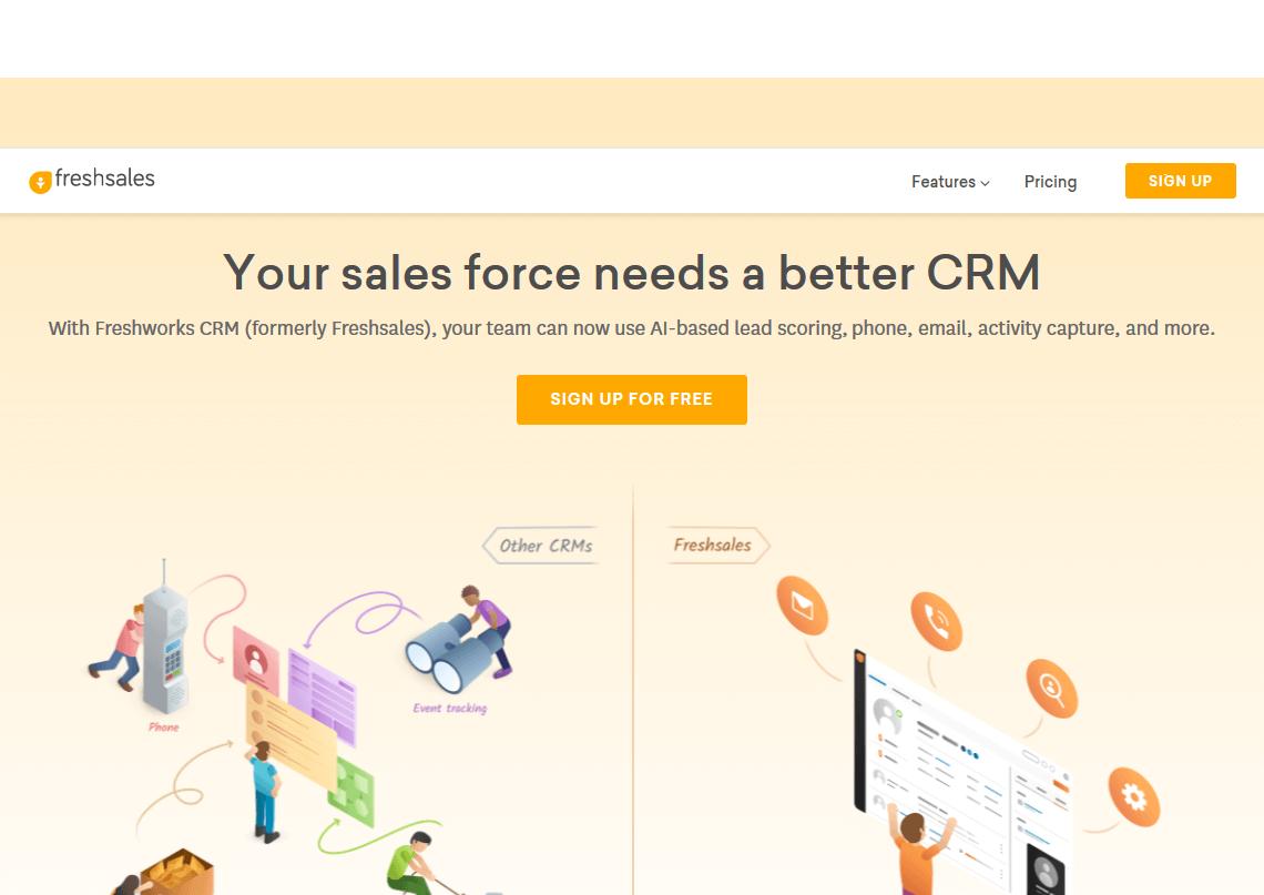 Freshsales User-friendly Customer Engagement Software to do Complex tasks
