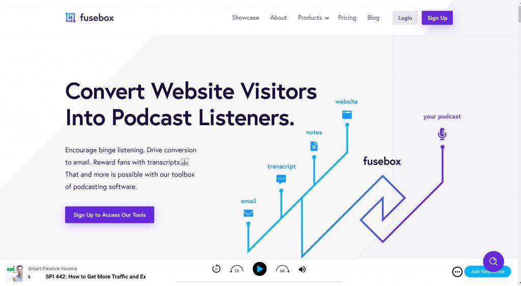 Fusebox free podcast hosting platfirm