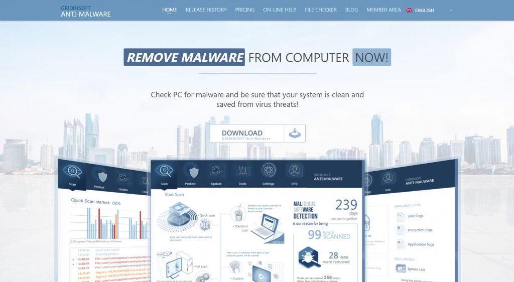 GridinSoft anti malware software- best malware removal tool
