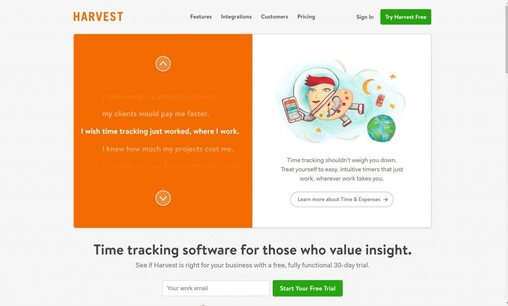 Harvest time tracking software