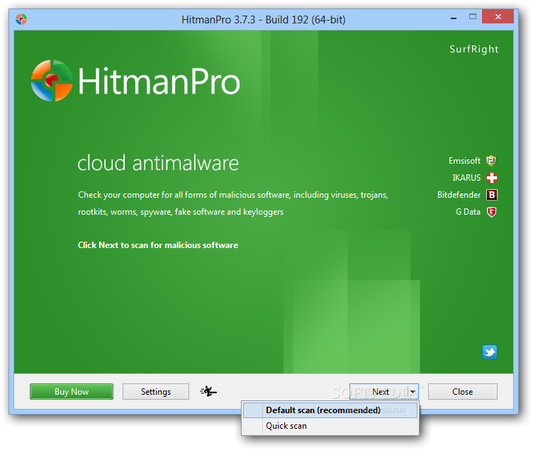 HitMan Pro- best free anti malware software