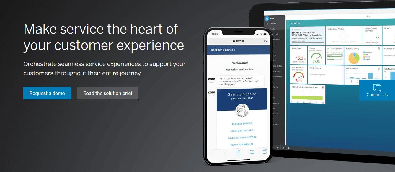 Homepage of SAP CRM-
