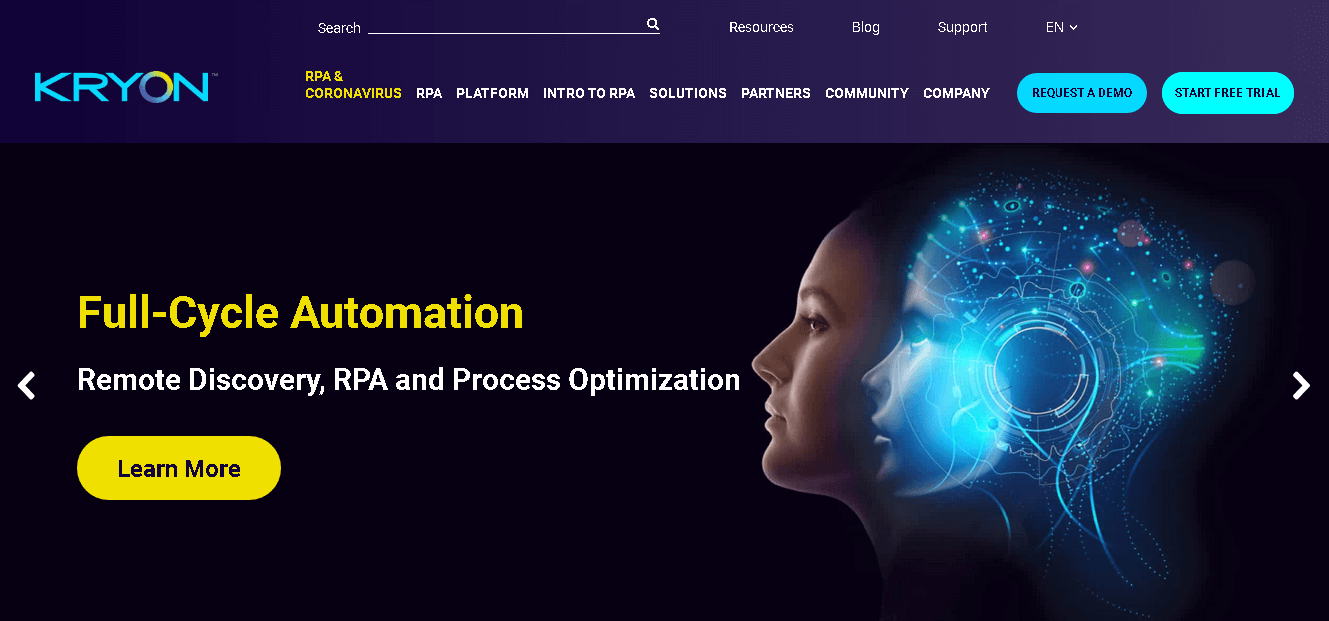 Kryon- Robotic Process Automation with Three Versions