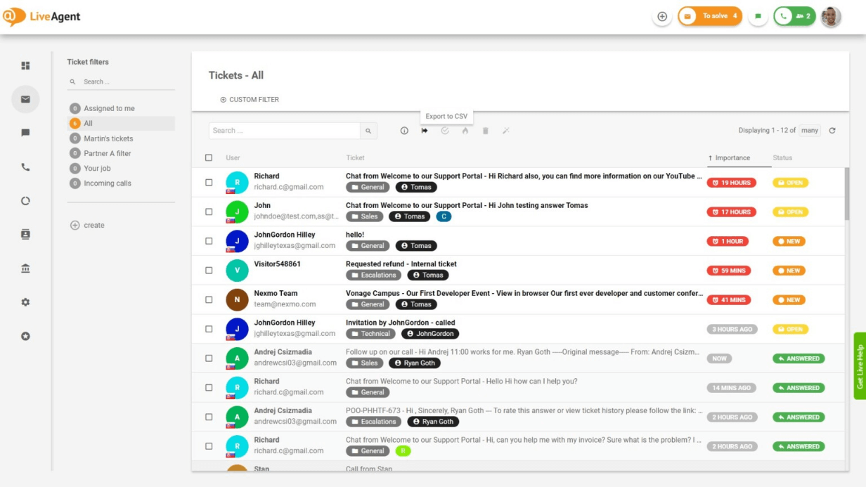 Live-Agent Ticketing System with a Fastest Live Chat Widget