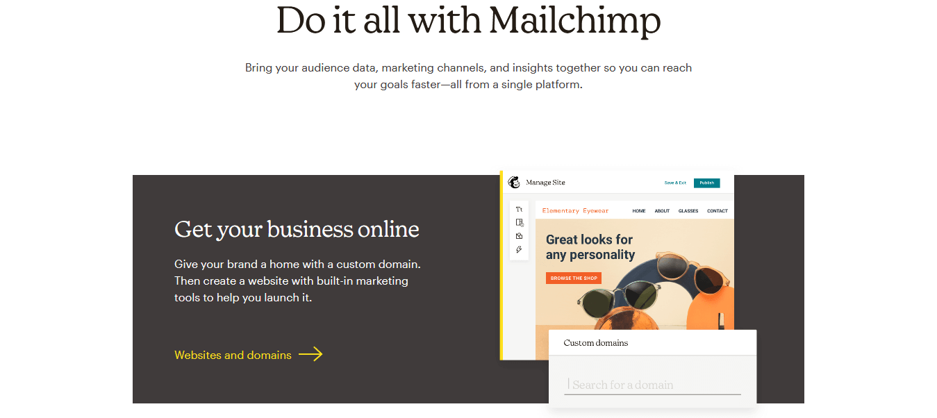 Marketing smarts for big ideas Mailchimp