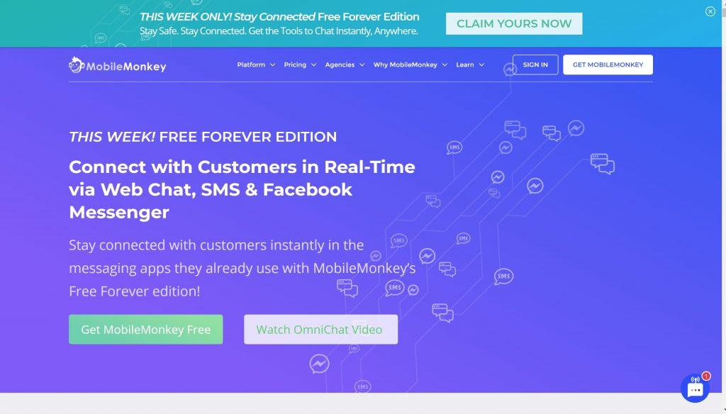 Mobilemonkey- chatbot software for your website