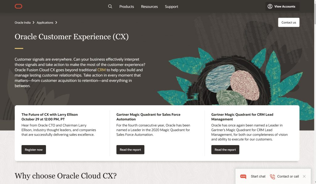 Oracle Customer experience software