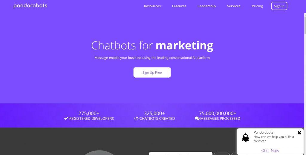 Pandorabots chatbot software tool