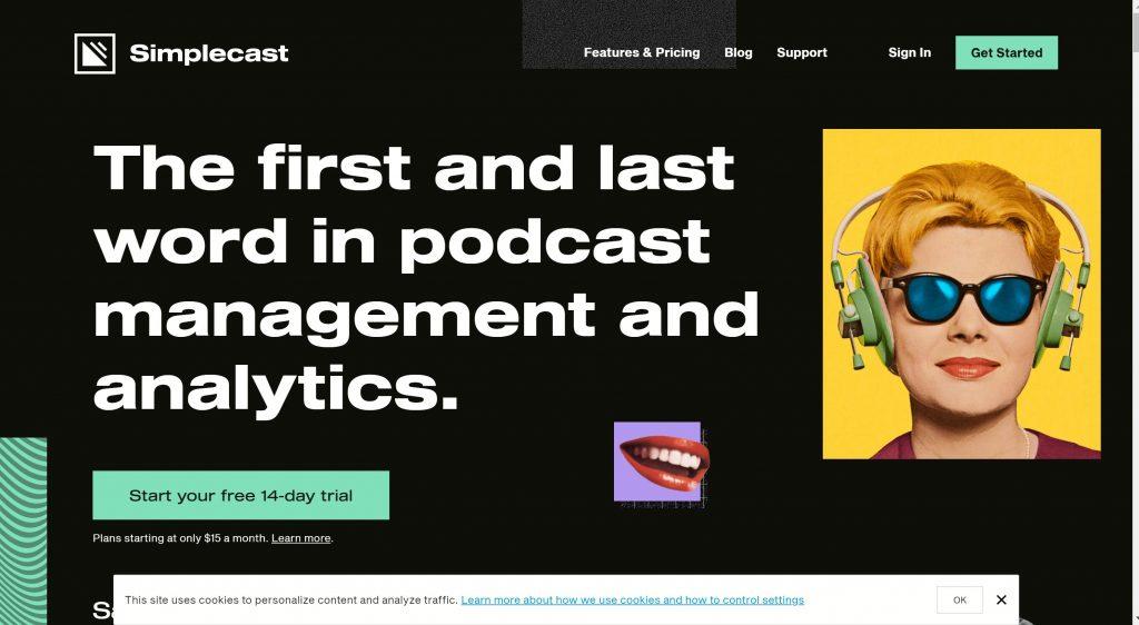 Simplecast podcast hosting software