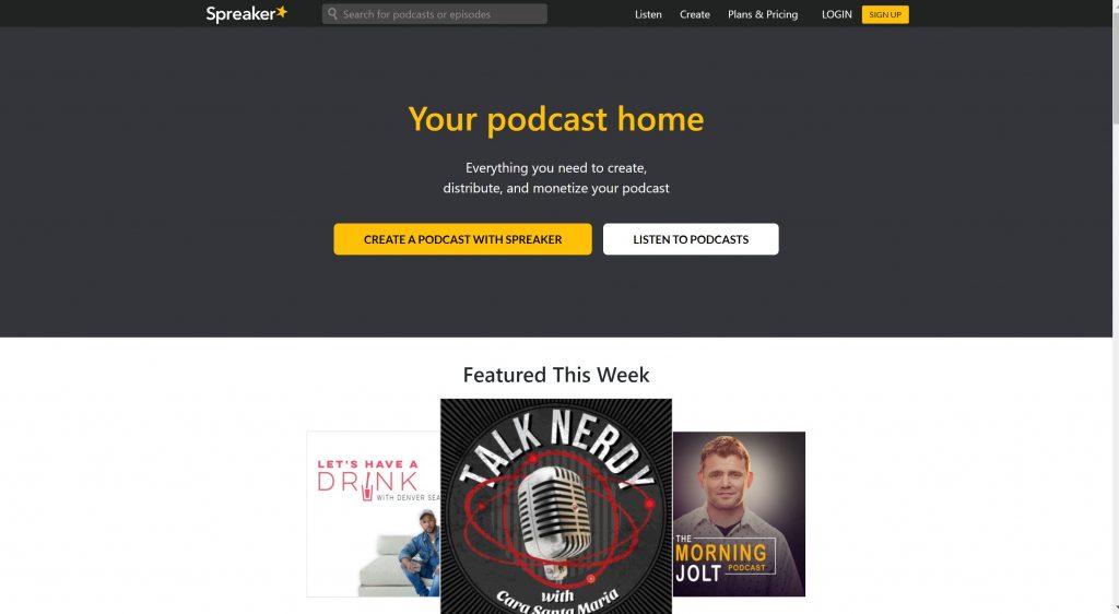 Spreaker- free podcast hosting platform