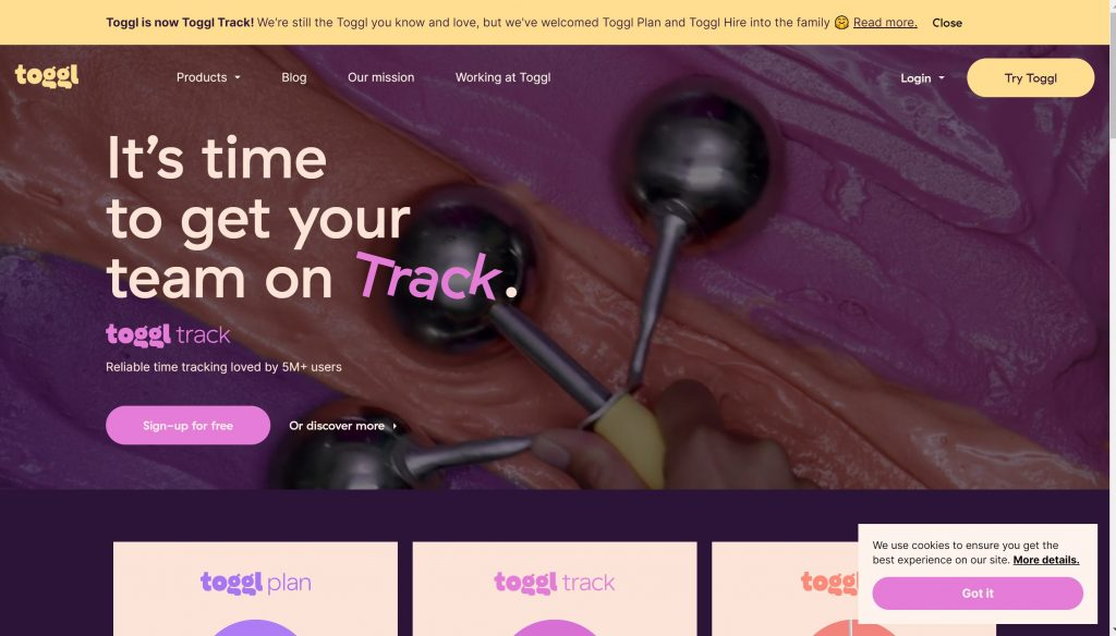 Toggle- simple time tracking tool