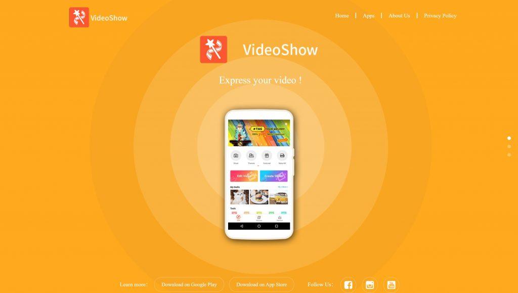 Videoshow Instagram video editing apps