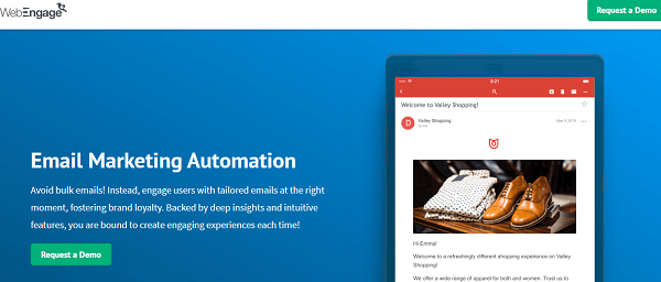 WebEngage-email automation software