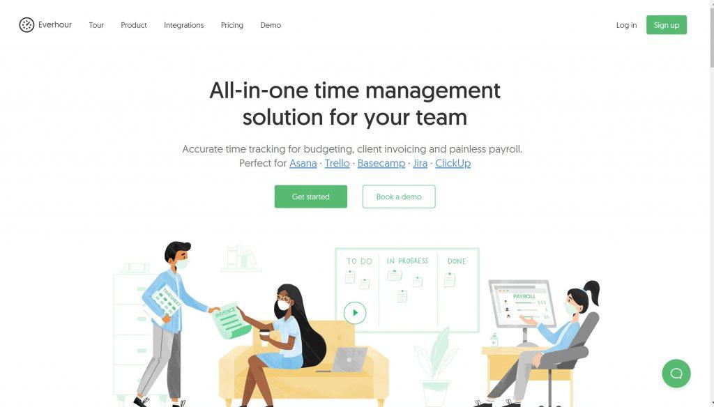 best time tracker app- Everhour