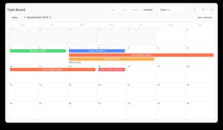 ntask calendar apps