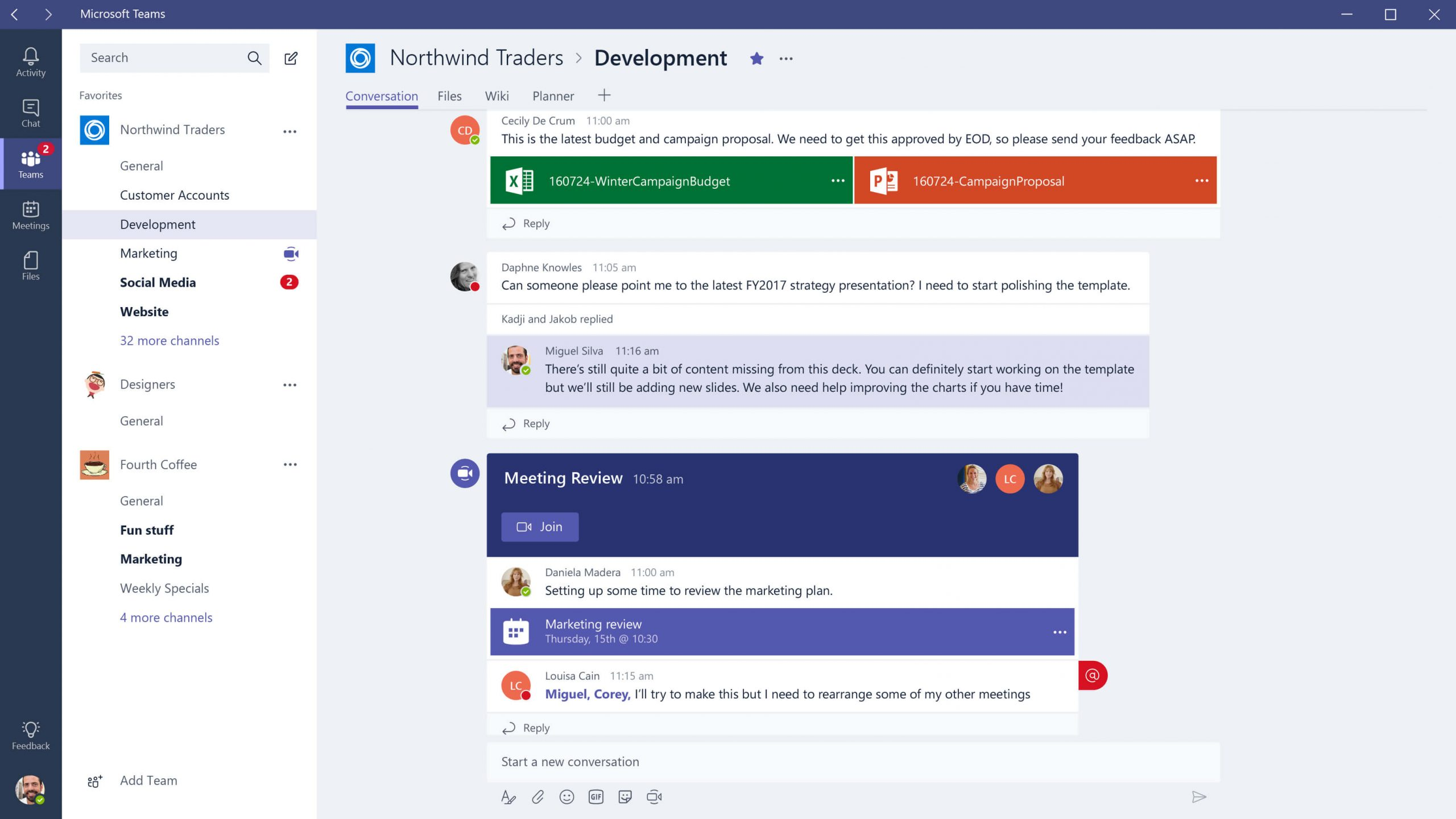 microsoft teams - chat apps