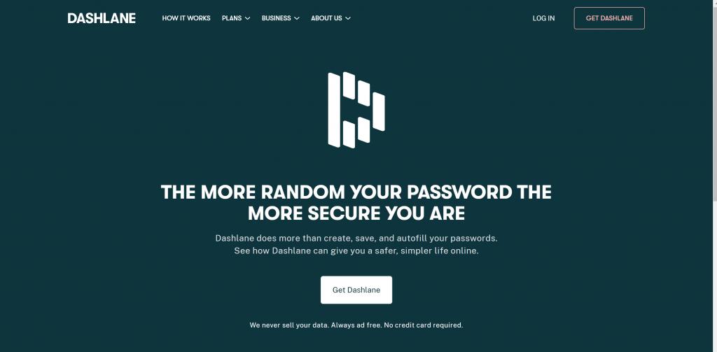 Dashlane password manager tools
