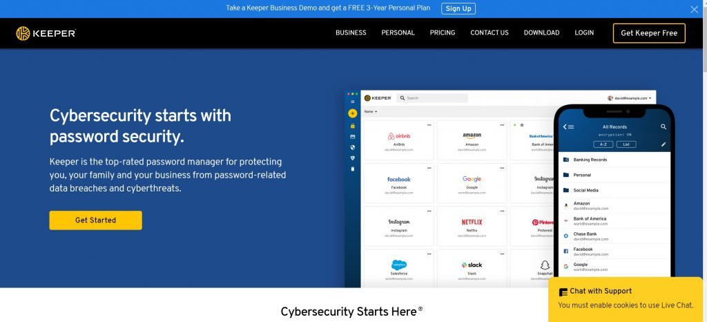 Keeper security password manager