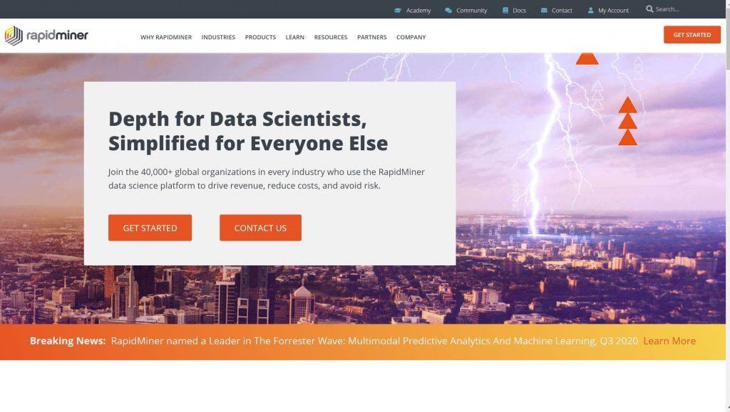 RapidMiner predictive softwrare solutions