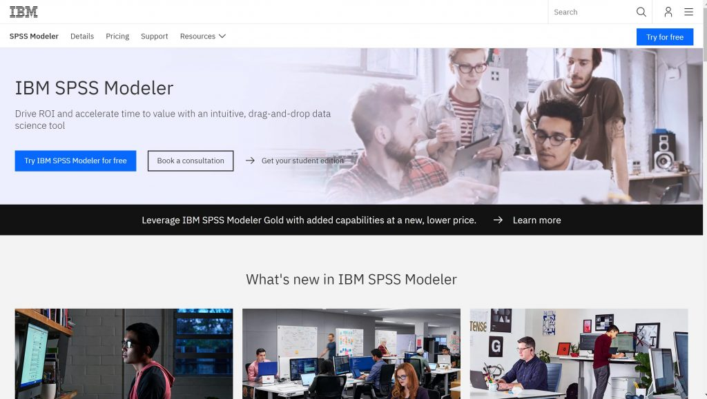 SPSS Modeler aanalytics software