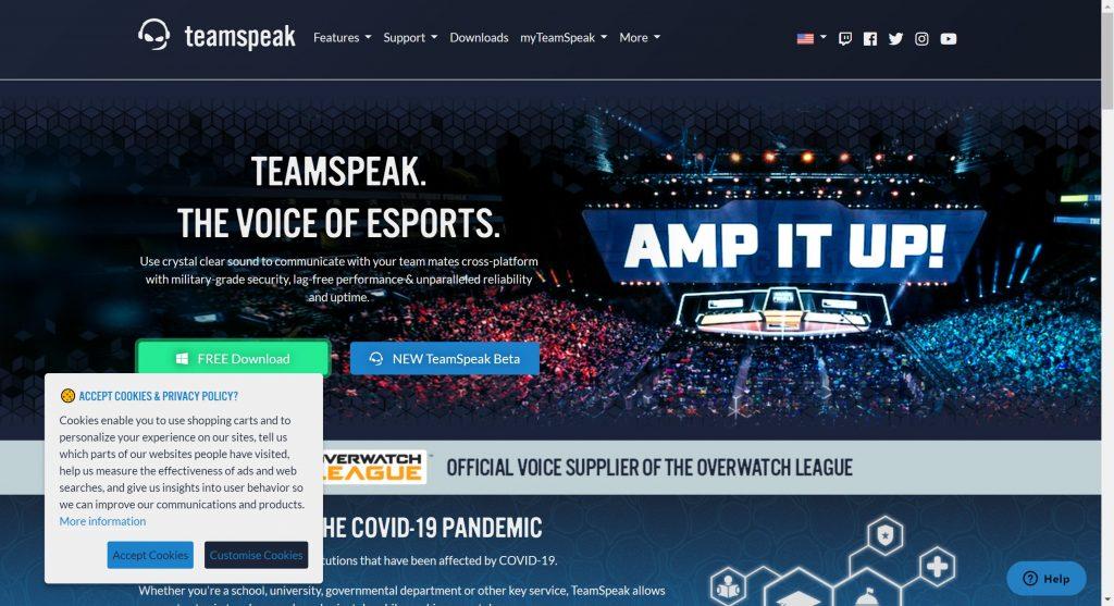 TeamSpeak discord alternatives 2020