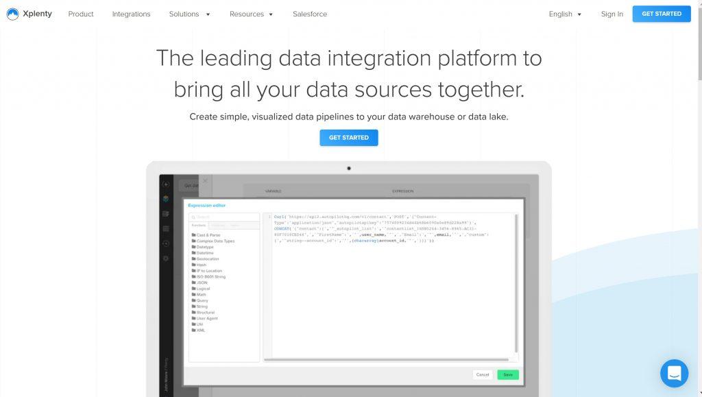 Xplenty analytics software solutions